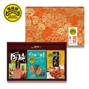 《免運》【黑橋牌】脆片肉乾海苔燒免運禮盒(泰式檸檬+黃金起司)