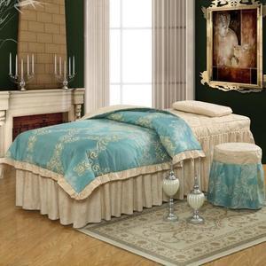浪漫谷純色美容床床罩四件套美容院床罩