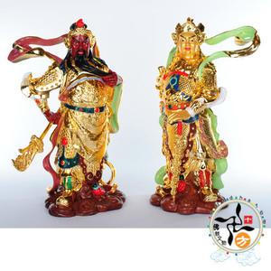 韋馱伽藍護法菩薩(1對)8吋 【十方佛教文物】