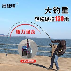 海竿伸縮路亞竿遠投桿磯釣竿碳素海桿拋竿洛麗的雜貨鋪