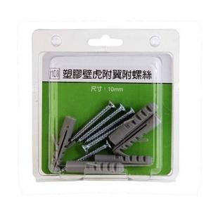 108塑膠壁虎附翼螺絲盒裝10mm