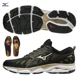 MIZUNO WAVE ULTIMA 11 男鞋 慢跑 路跑 馬拉松 阿姆斯特丹 紀念 夜巡 名畫 黑 金【運動世界】J1GC196601