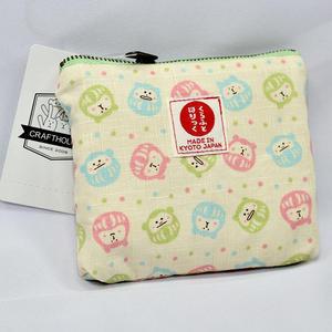 不倒翁 和風 純棉 拉鍊 化妝包 紙巾包 錢包 收納包 日本製