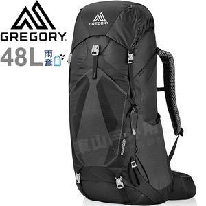 Gregory 126844_2917黑 Paragon 48L男專業登山背包 CrossFlo健行背包/自助旅行 縱走