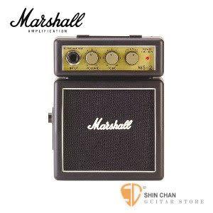 【缺貨】Marshall MS-2 迷你電吉他音箱【MS2/攜帶式音箱】