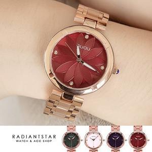 韓國GUOU霓幻花漾點鑽金屬鍊帶手錶【WGU6006】璀璨之星☆