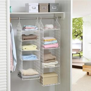 可懸掛衣物廚櫃組合收納架塑膠整理架置物架儲物掛袋掛架衣櫃層架  ATF 極有家