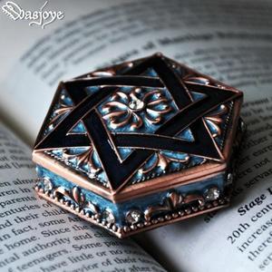 芒星復古歐式公主首飾盒信物盒珠寶戒指飾品收納盒禮物 三角衣櫃
