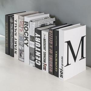假書 簡約現代假書裝飾書架北歐風格裝飾品擺件創意拍照道具書仿真擺設