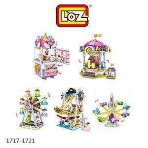 LOZ 迷你鑽石小積木 樂園系列 海盜船 摩天輪 旋轉飛機 旋轉木馬 夾娃娃機 樂高 益智玩具 正版