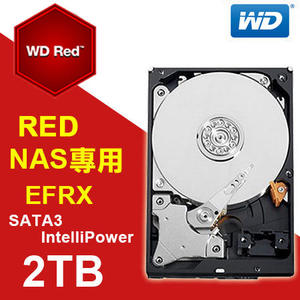 硬碟 WD 2T B 3.5吋 SATA3 紅標 NAS專用硬碟 WD20EFRX