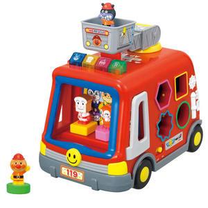 麵包超人 四人偶積木聲光消防車 3歲以上 好多機關絕對好玩 日本正版
