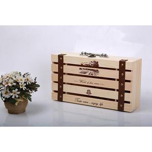 紅酒盒包裝木盒紅酒雙支禮盒紅酒盒子通用酒盒木箱實木酒盒JD 智慧e家