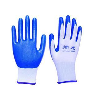 手套勞保浸膠耐磨 工作防水防滑 塑膠橡膠工業帶膠膠皮手套  極有家