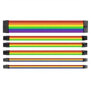 曜越 Tt TtMod 電源編織線 (彩虹版) 模組化電源供應器用