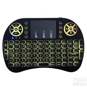 藍芽鍵盤 迷你無線小鍵盤鼠標2.4G藍芽空中飛鼠筆記本電腦電視機頂盒遙控器 快速出貨