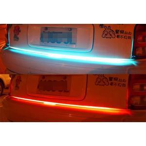 120cm 超薄 紅+冰藍 LED 微笑燈 煞車燈 導光條 氣氛燈 光柱 淚眼燈 導光線 警示燈 LED燈條 冷光線條