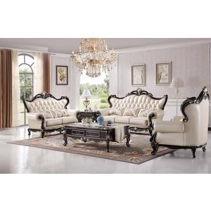 【大熊傢俱】A82 玫瑰系列 歐式皮沙發 多件沙發組 美式皮沙發 歐式沙發 布沙發  休閒沙發 雕花