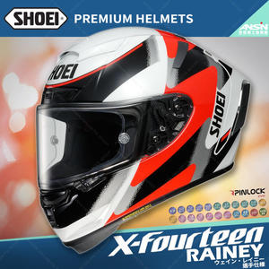 [中壢安信]日本SHOEI X-Fourteen X14 選手彩繪 RAINEY TC-1 紅白 全罩 安全帽 限定生產