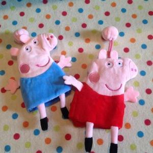 【發現。好貨】粉紅豬小妹喬治佩佩豬毛絨鑰匙包零錢包二合一多功能收納包鑰匙扣生日禮物