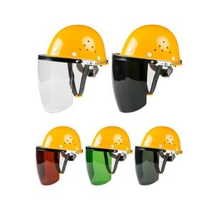 安全帽式電焊面罩燒焊工防護罩臉部面屏防飛濺打磨透明焊帽頭戴式 智慧e家