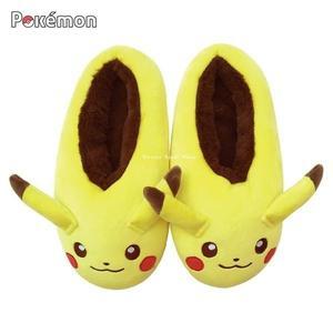 日本限定 寶可夢 皮卡丘 造型室內拖鞋 保暖鞋