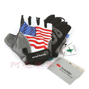 Good Hand單車專用手套,環保無害材質,美國國旗樣式《C80-53290》
