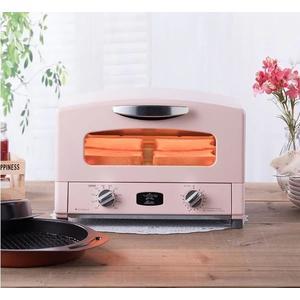 日本Sengoku Aladdin 千石阿拉丁「專利0.2秒瞬熱」4枚焼烤箱(附烤盤)-粉紅