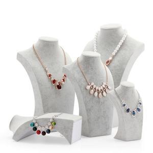 人像脖子首飾架頸模特項錬吊墜展示架飾品珠寶展示道具 WD