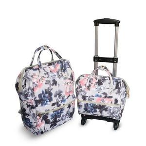 店長推薦可拆卸子母箱拉桿箱旅行包拉桿包拉桿背包防水牛津布旅行箱拉桿女
