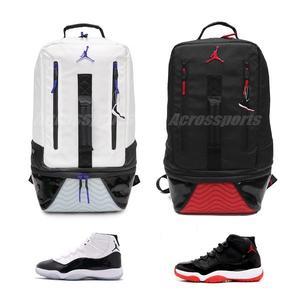 Nike 後背包Air Jordan Retro 11 XI Concord Bred Backpack 白黑紅大容量 bd0e3b075c