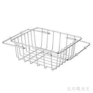 廚房置物架 可伸縮廚房水槽瀝水架304不銹鋼瀝水籃果蔬水槽架碗碟架晾碗架籃TY588【大尺碼女王】