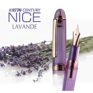 日本 Platinum 白金 3776 NICE LAVENDE 紫色透明鋼筆