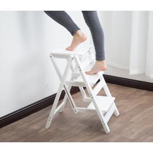 梯凳 梯凳人字梯實木二三四步梯椅凳花架室內登高爬小梯子 WJ 解憂雜貨店