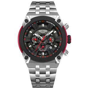 RHYTHM日本麗聲 鐵甲武士計時手錶-黑x銀/46mm I1501S01