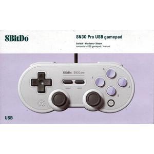 台灣公司貨 支援 電腦/NS/樹莓派 八位堂 SN30 Pro 有線震動搖桿 8Bitdo SNES款