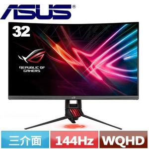 ASUS華碩 ROG Strix XG32VQ 32型電競曲面螢幕
