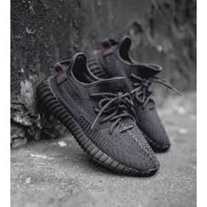 現貨秒發 ADIDAS Yeezy Boost 350 V2 Black 黑魂 全黑 鞋帶反光 FU9006