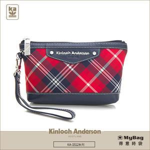 Kinloch Anderson 金安德森  皮夾 英式學院 紅/藍 經典格紋布女夾 手拿包  KA151206 MyBag得意時