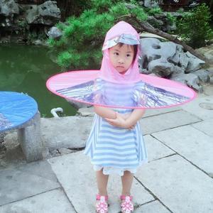 雨天神器兒童成人雨衣雨傘帽折疊傘學生創意飛碟防雨披雨帽傘雨具·  9號潮人館