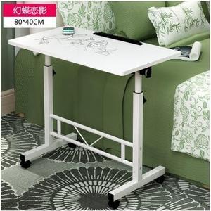宿舍桌子 電腦桌 床上書桌 床邊桌 移動升降桌【80-40幻蝶戀影】