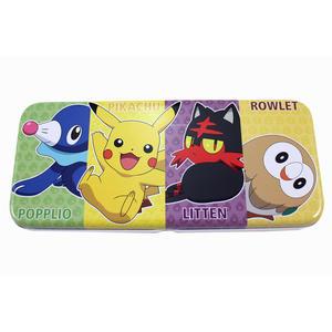 【卡漫城】 寶可夢 雙層 鐵筆盒 ㊣版 鉛筆盒 Pokemon 神奇寶貝 寶可夢 文具 木木梟 火斑喵 球球海獅