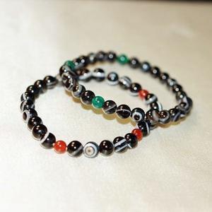 【喨喨飾品】黑色天眼珠/瑪瑙 手鍊  藏密七寶之一,亦佛教之聖物 A598