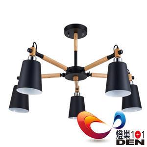 loft工業菲利克斯金屬5燈半吸頂燈【燈巢1+1】燈具。燈飾。Led居家照明。桌立燈 。 03083267