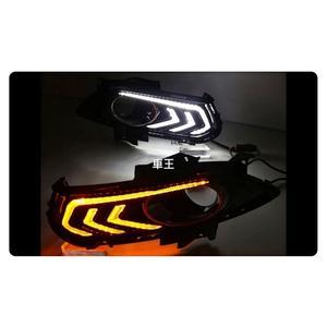 【車王汽車精品百貨】福特 Ford Mondeo 2014 日行燈 晝行燈 霧燈框改裝 野馬款 帶轉向 雙色款