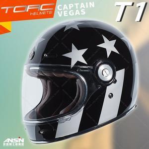 [中壢安信]美國 TORC T-1 T1 彩繪 CAPTAIN VEGAS 亮光黑 全罩 安全帽 雙D扣 樂高帽 山車帽