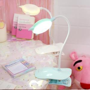 檯燈 少女可充電式led小台燈護眼書桌臥室床頭夾子夾式迷你學生小夜燈