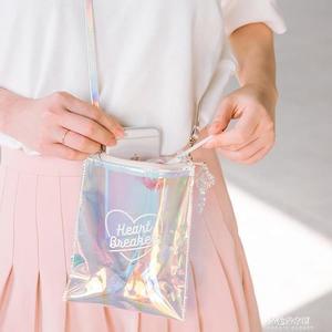 鐳射果凍包 秋冬個性百搭學生女側背包單肩包迷你背包小包包  朵拉朵衣櫥