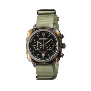 BRISTON 手錶 原廠總代理  18142-PKAM-TJS19-NJ 軍綠 時尚帆布錶帶 男女 生日情人節禮物