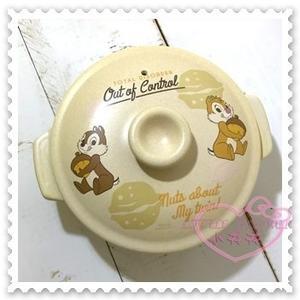 ♥小花花日本精品♥ Hello Kitty Disney迪士尼奇奇蒂蒂6號陶鍋陶瓷鍋1000cc 01100402